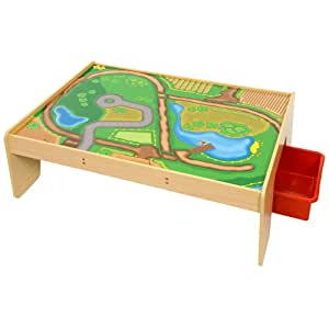 Bigjigs Rail Table De Circuit De Train Avec Tiroirs