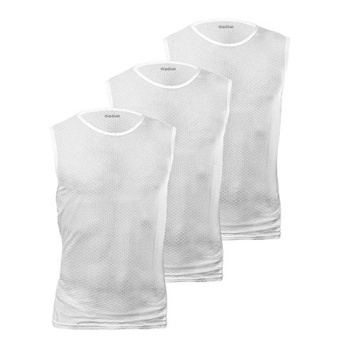 GripGrab Ultralight Mesh Unterhemd Ärmellos 3PACK Base Layers Weiß, L