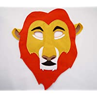 Lion Mufasa Costume Mask, gift, felt fabric boys girls adults sizes children's kids animal birthday