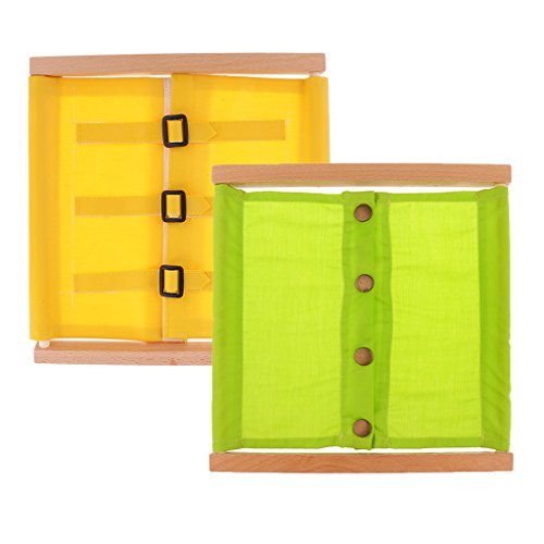Sharplace 2 Piezas Montessori Material Vestidor con Botón Pequeño Juguetes Educativos para Niños