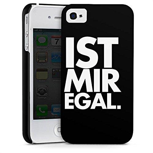Apple iPhone X Silikon Hülle Case Schutzhülle Sprüche Ist Mir Egal Statement Premium Case glänzend