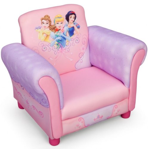 Disney Princess Armlehne Stuhl mit Holz Innenteil Einzelsofa Kindersofa Sitzplatz NEU (Disney Princess Sofa)