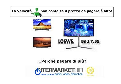 'Téléviseur lOEWE Bild 7.55, 55avec Technologie OLED EHD (3840x 2160pixels) Dual Channel 2x DVB- T2/S2avec HEVC, puissance 120W, barre de son intégrée à disparition, avec 6haut-Parleurs frontaux et 4membrane passives. Decode AC3intégré. Disque dur lOEWE Dr + intégré de série de 1TB, Dr + streaming (client/serveur) et Follow Me magasin intermarket Hi-Fi Rome conception, vente, installation, assistance technique de haute fidélité, vidéo, Audio, accessoires, musique liquide. HIFI Online Shop