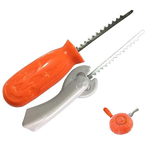 (Xiton 2Pcs/Set KürbisSchnitzerei Set Sicherheit Kinder Kürbis geschnitzte Werkzeuge DIY Kürbis Laterne SchnitzWerkzeuge für Kinder)