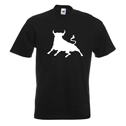 KIWISTAR - Stier Toro bull T-Shirt in 15 verschiedenen Farben - Herren Funshirt bedruckt Design Sprüche Spruch Motive Oberteil Baumwolle Print Größe S M L XL XXL Schwarz