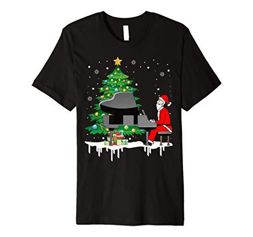 Weihnachtsmann, der Klavier-lustiges Geschenk-T-Shirt spielt