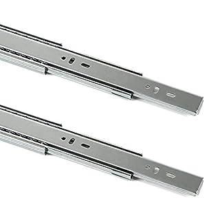 1 Paar (2 Stück) SO-TECH® Vollauszüge mit SoftClosing H 45 / L 550 mm Schubkastenauszüge Teleskopschienen