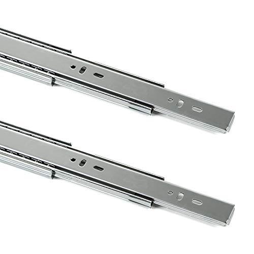 2 Paar (4 Stück) SO-TECH® Vollauszug mit SoftClosing H 45 / L 500 mm Schubkastenauszug Teleskopschiene