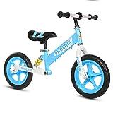 Bicicleta sin pedales Bici Bicicleta de Equilibrio para niños de 3 años: Primera Bicicleta Liviana sin Pedales, neumáticos EVA de 10 Pulgadas, Negro/Azul/Rosa/Amarillo (Color : Azul)
