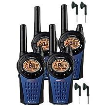 12Km Cobra MT975 Dos Vías PMR 446 Walkie Talkie Licencia Libre Radio Con Comtech CM-15PT PTT Hndsfree Auriculares - Azul, Quad