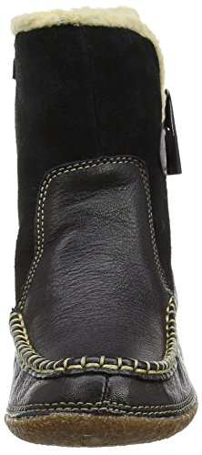 Hush Puppies Noy Mindset, Damen Stiefel Schwarz (Black Leather)
