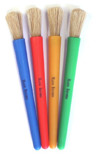 Chubby Brushes – Colourful Toddler Paint Brushes Set of 4