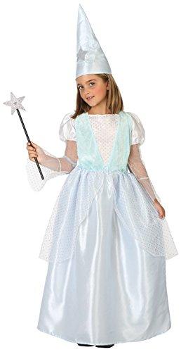 Imagen de disfraz de hada madrina azul para niña