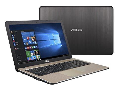 Asus F540SA XX073T Portátil de 39,6cm (15,6pulgadas) (Intel Celeron N3050, 4GB de RAM, 500GB de disco duro, gráfica Intel HD, DVD-RW, Win 10), marrón marrón