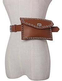 a16aca1c0423 COUCOU Age Ceinture Sacoche Cuir Rivets Femme Fille Portable Détachable  Accessoire Chemise Robe