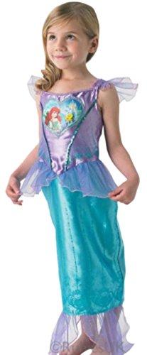 chen Arielle Meerjungfrau Karneval Faschingskostüm, 128, Blau (Dornröschen Blaues Kleid Kostüm)