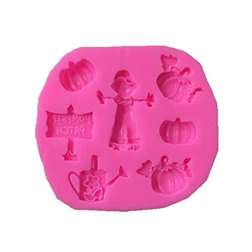 SULUO Halloween Vogelscheuche Kürbis Wasser Silikon Fondantform Cupcake Candy Schokolade Dekoration Backwerkzeug in Kuchenformen, A