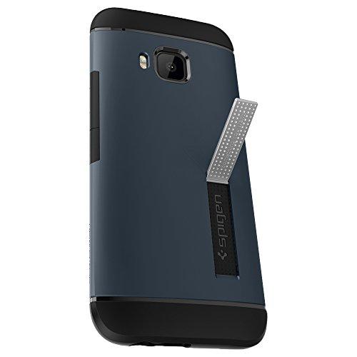 Spigen Schutzhülle HTC One M9 Hülle SLIM ARMOR - schwarzblau [Metal Slate - SGP11387]