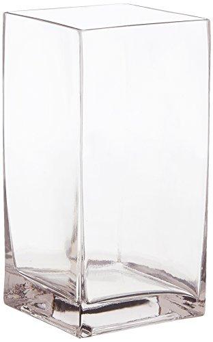 WGV klar Block Glas Vase, quadratisch, 420,3cm