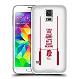 Head Case Designs Ufficiale England Rugby Union Swing Low 2018/19 Tipogragia Cover Morbida in Gel per Samsung Galaxy S5 / S5 Neo