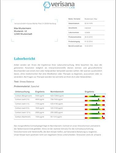 Verisana Hormonprofil Mann Östradiol, Progesteron, Testosteron, DHEA & Cortisol | Hormone Männer testen per Speicheltest - 2