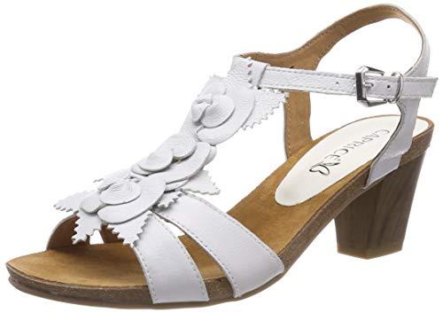 CAPRICE Chenoa, Sandali con Cinturino alla Caviglia Donna, Bianco (Offwhite su.Me 128), 37.5 EU