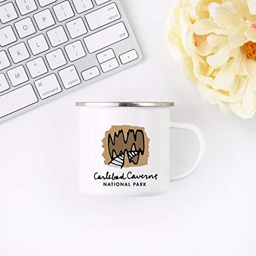 Chocolate Mug Carlsbad Caverns National Park Mug, New Mexico Gift Camp Cup, Metal Mug Hiking Gift 10Pcs ()