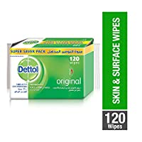 Dettol Original Anti-Bacterial Multi Use Wipes - Pack Of 120