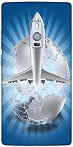 Snoogg Airlines Theme Solid Snap On - Back Cover All Around Protection For On...