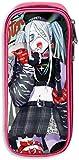 Astuccio per ufficio resistente a doppia cerniera Borsa in tessuto resistente per teenager, Snow Miku Hatsune Miku Cosplay Fan Art Fashion Marker Organizer per Daily
