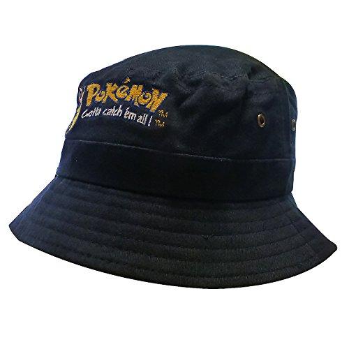 Original Nintendo Pokémon | Mütze | Kappe | Fischerhut | Kinder | 56 cm | 100% Baumwolle | Pikachu-Stickerei | (Pikachu Kostüm Und Mädchen Ash)