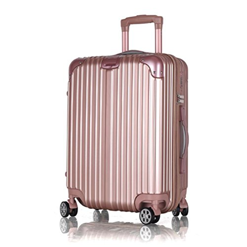 abs-pc-waterproof-luggage-case-360-degree-rotating-caster-travel-bag-rose-gold-24-inch
