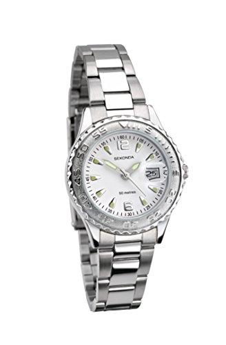 Sekonda orologio da donna quadrante bianco cinturino in acciaio INOX (335709088)
