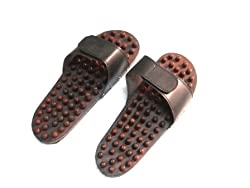 Onlineshoppee wooden acupressure slipper slippers Acupuncture yoga body stress massager fitnes
