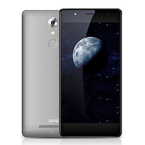 LEAGOO T1 Smartphone 4G LTE 5'' Android 6.0 (MTK 6737 Quad Core 1.3GHz 2G + 16G, 2.5D Screen, Dual Camera 8MP + 13 MP, Ultra-Sottile 7,5mm Corpo in Metallo, 0.19s Impronte Sblocco)