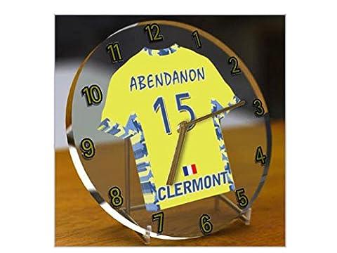 Ligue Nationale de Rugby - Horloge de table avec T-shirt incorporé – Personnalisation gratuite: n'importe quel nom, numéro, équipe!! (ASM Clermont Auvergne)