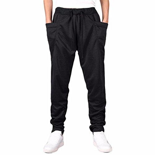 Homme Baggy Pantalon De Jogging Hip-Hop pantalon Black