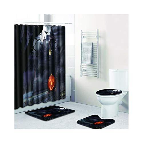 ilig Halloween-Thema Stil 2 Badezimmerteppich Set 8 Teilig Für Hänge Wc 50X80Cm ()