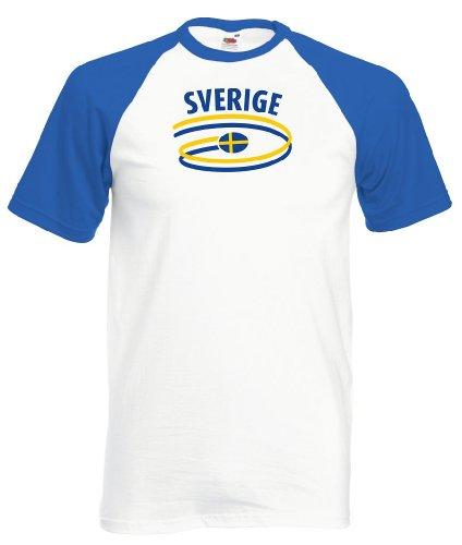 Schweden Herren Baseball T-Shirt Dynamic Trikot|l