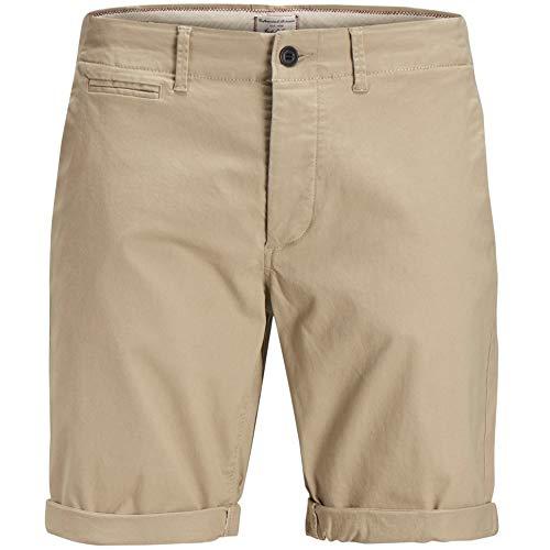 JACK & JONES Herren JJIENZO Chino WW 01 STS Shorts, Beige White Pepper, W(Herstellergröße:M) -