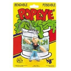 popeye-393198-popeye-bendable-key-chains-3-case-of-12