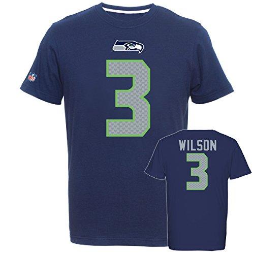 Majestic NFL Fan Shirt - Seattle Seahawks 3 Russell Wilson - -