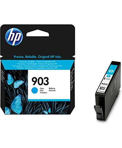 HP 903 - Cartucho de tinta para impresoras (estándar, compatible con OfficeJet Pro 6960 AiO/6970 AiO), cian