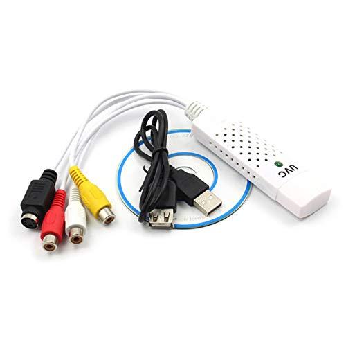 fEStprintse No-Driver UVC USB 2.0 Adaptador de Tarjeta de Captura de Audio y Video Cable de extensión USB Compuesto RCA CD de Software