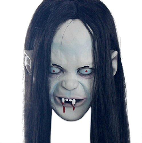 Moolecole Halloween Horror Ghost Gesicht Maske Schaurig Maske Kopfbedeckung Party Kostüm (Kostüm Verrückte Mörder)