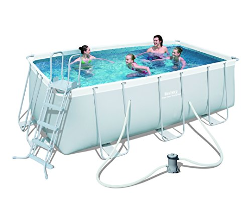 bestway-rectangular-steel-pro-frame-set-above-ground-swimming-pool-grey-135-ft