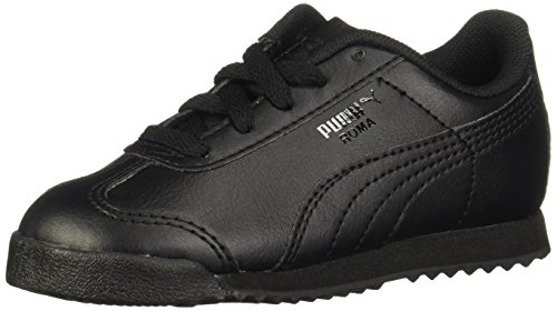 Big School Kids Sneakers (PUMA Roma Basic Kids Sneaker (Toddler/Little Kid/Big Kid) , Black/Black, 11 M US Little Kid)