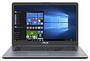 ASUS A705UA (90NB0EV1-M06460) 43,9 cm (17,3 Zoll, FHD, Matt) Notebook (Intel Core i5-8250U, 8GB RAM, 256GB SSD, Intel UHD Graphics, Win 10) Grau