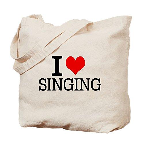 (CafePress-I love singt-Leinwand Natur Tasche, Reinigungstuch Einkaufstasche Tote S khaki)