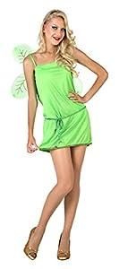Atosa- Disfraz Hada, Color Verde, M-L (7108)